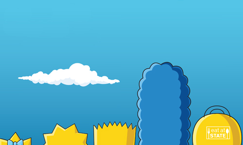 Simpsons family graphic